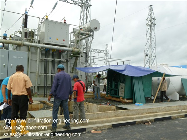 Oil Filtration System Working Site